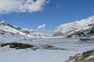 Il Trenino del Bernina al Passo Bernina