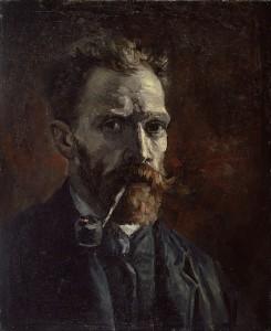 Vincent Van Gogh, autoritratto con pipa (1886), Museo Van Gogh Amsterdam