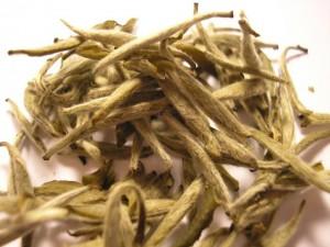 Foglie di tè bianco