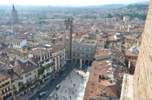 Verona, Piazza delle Erbe dalla Torre dei Lamberti