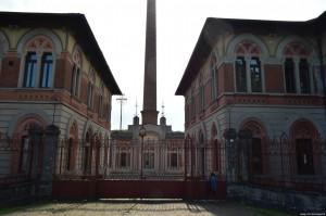 Villaggio Crespi, ingresso alla fabbrica