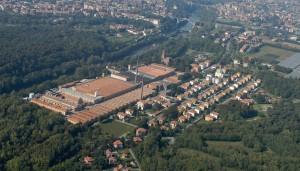 Villaggio Crespi, veduta aerea