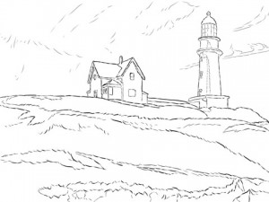 lighthouse-hill-by-edward-hopper-coloring-page