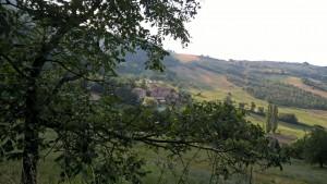 Veduta sull'appennino modenese nei pressi delle cascate Bucamante