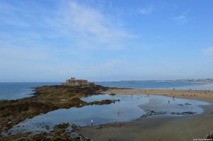 Saint Malo, Fort du Petit Bé durante la bassa marea
