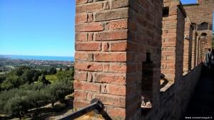 Castello di Gradara, panoramica dal camminamento di ronda