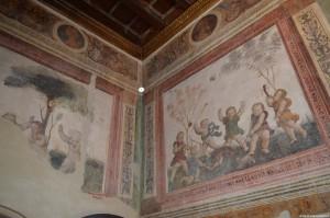 Castello di Gradara, la Rocca, decorazioni interne