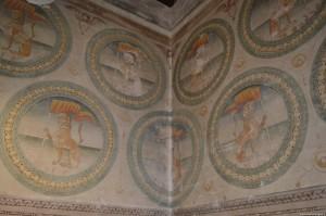 Bentivoglio, Castello, piano nobile, decorazioni stemma dei Bentivoglio