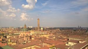 Bologna, vista dalla terrazza panoramica Basilica San Petronio