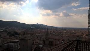 Bologna, vista dalla terrazza panoramica della Basilica di San Petronio