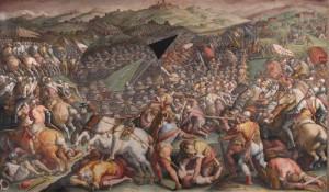 Battaglia di Marciano del Vasari, Salone dei Cinquecento, Palazzo Vecchio, Firenze