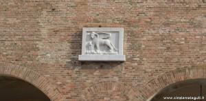 Treviso, Leone di San Marco sulla facciata del Palazzo dei Trecento