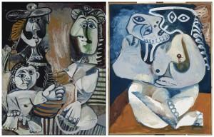 La famiglia e L'abbraccio, Pablo Picasso