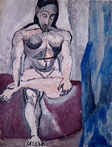 Nudo seduto, Pablo Picasso