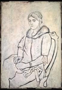 Olga con il collo di pelliccia, Picasso