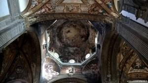 Parma, il Duomo, interno, affreschi di Correggio