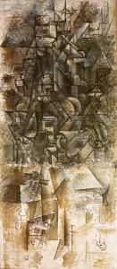 Uomo con mandolino, Pablo Picasso