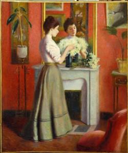 Femme au miroir, 1898, Federico Zandomeneghi