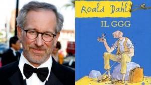 Spielberg e la copertina del libro per ragazzi da cui ha tratto il film Il GGG