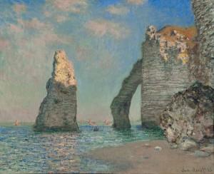 La scogliera di Etretat (1885) di Claude Monet
