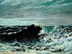 L'onda (1871 circa) di Gustave Courbet