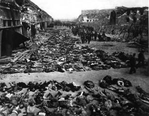 Olocausto durante la Seconda Guerra Mondiale, genocidio di circa sei milioni di ebrei ad opera della Germania nazista