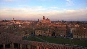 Imola, panoramica sulla città dalla Rocca Sforzesca