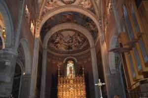 Piacenza, il Duomo, interno, navata centrale