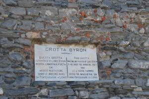 Portovenere, targa Grotta Byron