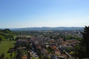 Cesena, panoramica sulla città dal camminamento di ronda della Rocca Malatestiana