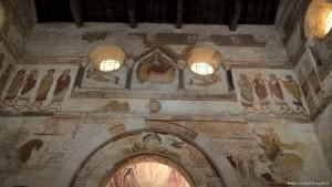 Poitiers, Battistero di Saint Jean, affreschi