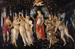 Primavera, Botticelli, Galleria Uffizi, Firenze