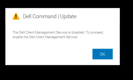 Dell Client Management service is disabled