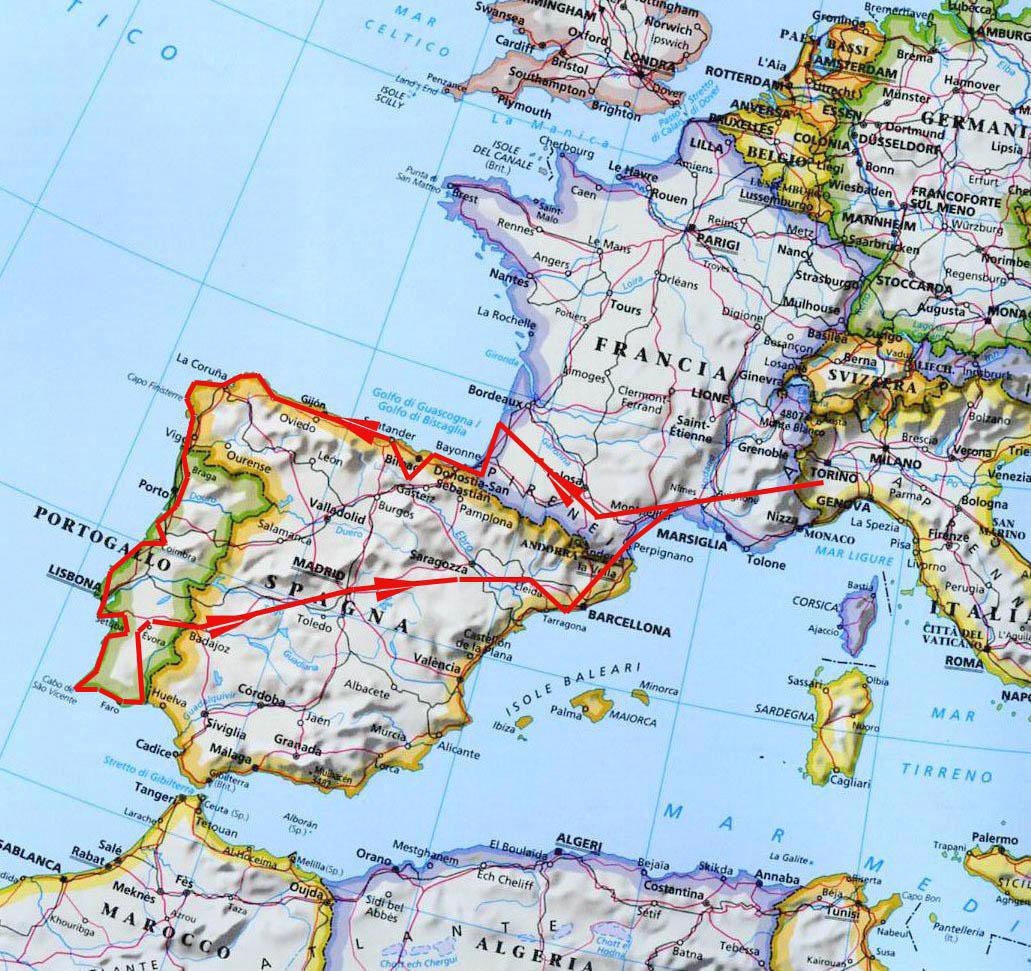 Portogallo E Spagna Cartina.Spagna E Portogallo 2007 Cipiaceviaggiare
