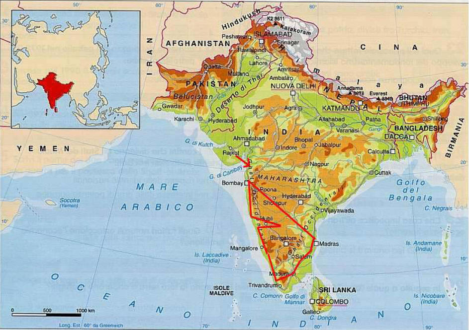India Del Nord Cartina.India Cipiaceviaggiare