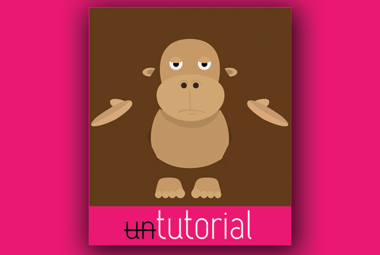 One-tutorial site logo formed by a monkey with hands outward