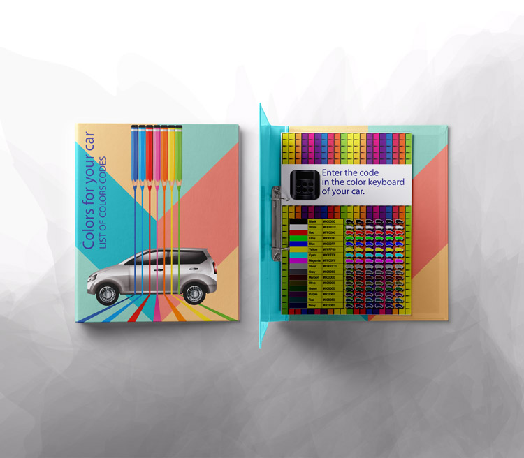 Libretto con i codici colore per cambiare colore alla macchina