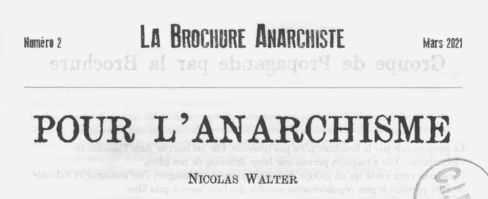 La brochure anarchiste