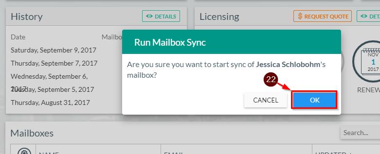 Run mailbox Sync Gal
