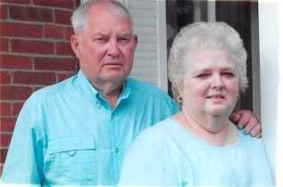 Dwayne Hanson and Belinda Hanson of Nevada, Iowa, standing together.