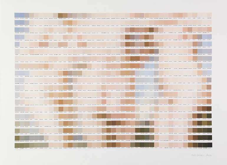Quadri famosi Pantone su tela  larte effetto pixel di