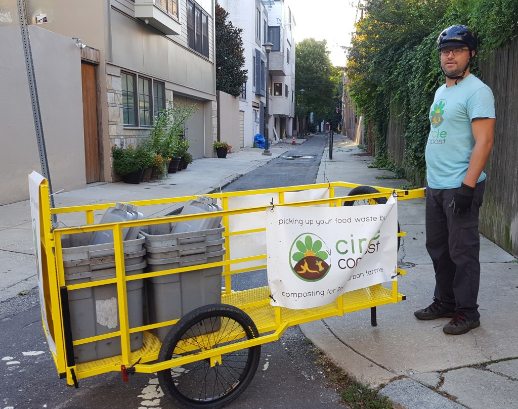compost by bike, zero waste, Philadelphia compost