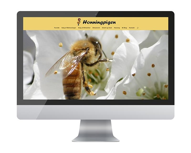 Hjemmeside for Honningpigen.dk