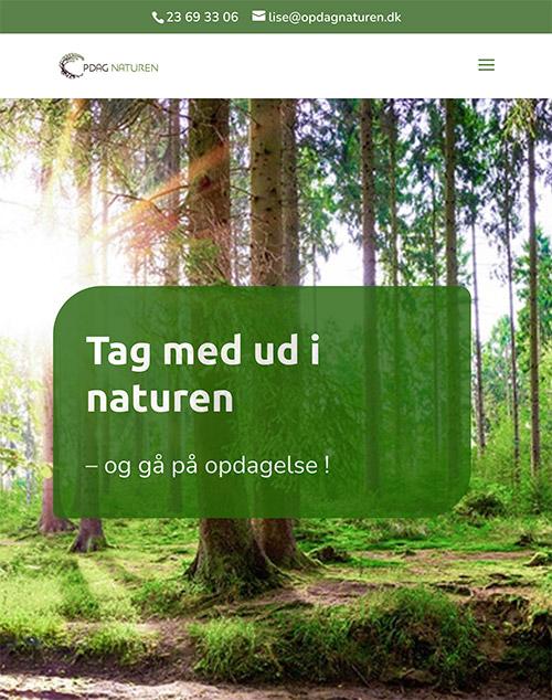 Design af website Opdag Naturen