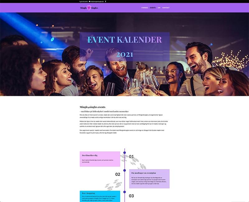 Wedesign af eventkalender
