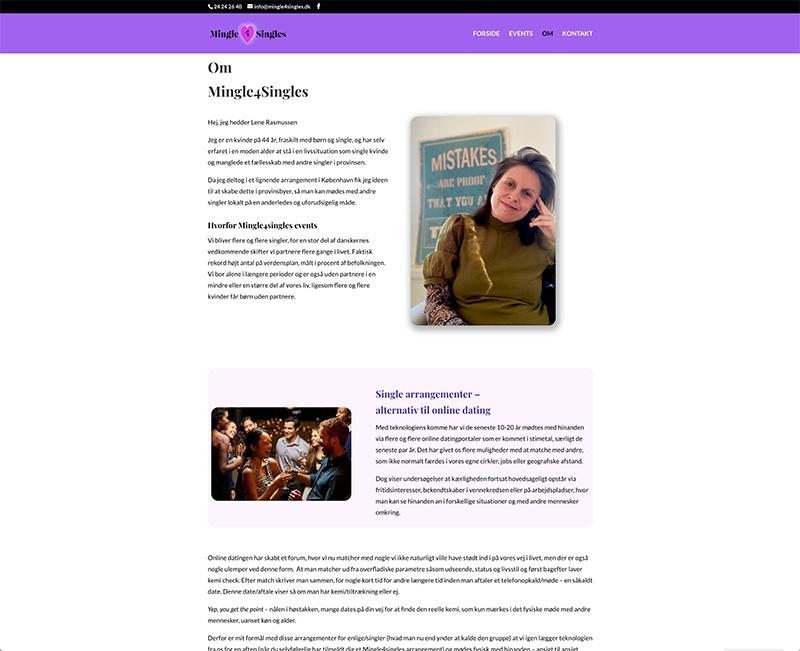 webdesign af om side