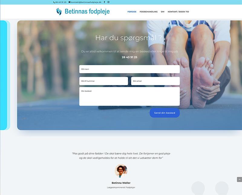 webdesign af kontakt boks