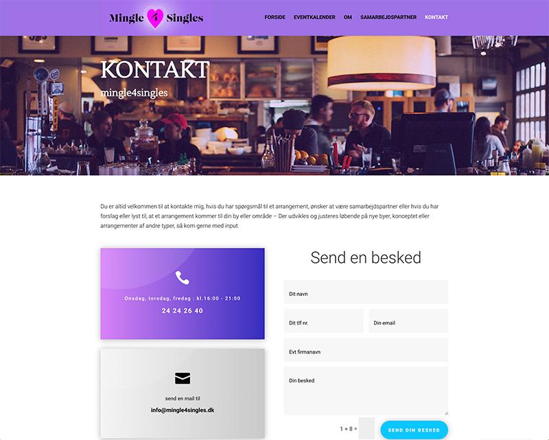 webdesign kontaktside