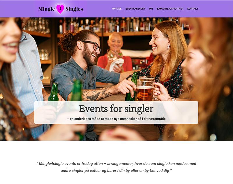 webdesign af hjemmeside for singler
