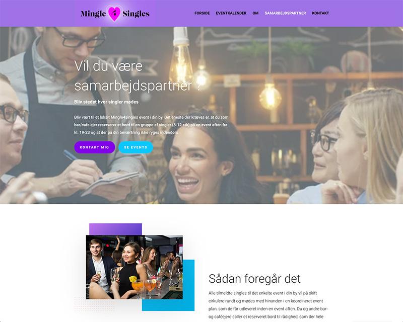 webdesign af samarbejdspartner side